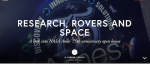 The science of the universe: Research, rovers and space
