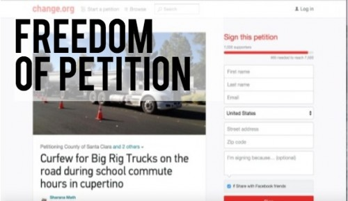 First Amendment Challenge: Freedom of petition