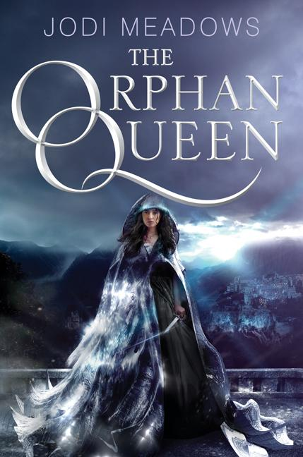 "The cover of ""The Orphan Queen"" by Jodi Meadows features the protagonist Princess Wilhelmina cloaked in flowing silver and standing before the mirrored city: Skyvale of the Indigo Kingdom, the setting of nighttime exploits and court intrigue in ""The Orphan Queen."" The exquisitely designed cover and lush illustrations fail to reflect Meadows' thin worldbuilding. Image taken from HarperCollins Publishers."