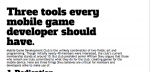 Three tools every mobile game developer should have