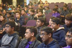The members of MVRT listen to the speaker. Photo by Nate Stevens