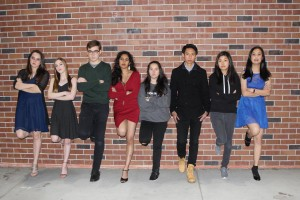 """The MVSNL'18 Production team, in a """"serious"""" photo. Photo by Stephanie Mullen."""