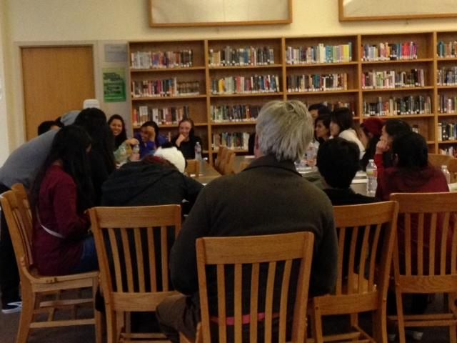 Members filled out a questionnaire at the end the session so that the club could match counselors with students in need of help. Photo by Elia Chen.