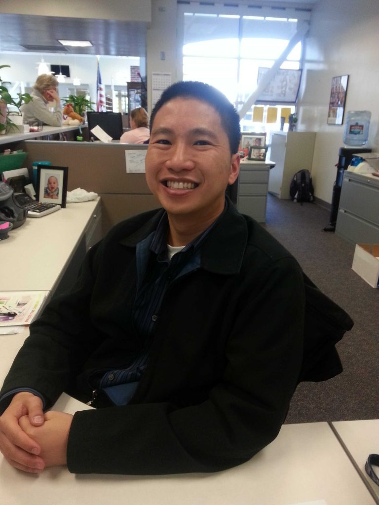 Former Attendance Technician Calvin Wong became the new Financial Technician at the beginning of second semester. He was offered the position following Judy Ma's retirement last semester. Photo by Colin Kim.