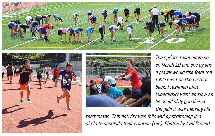 Sprinters Practice