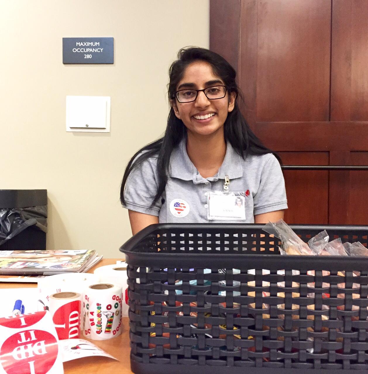 Amulya Raju, a volunteer in SBC.