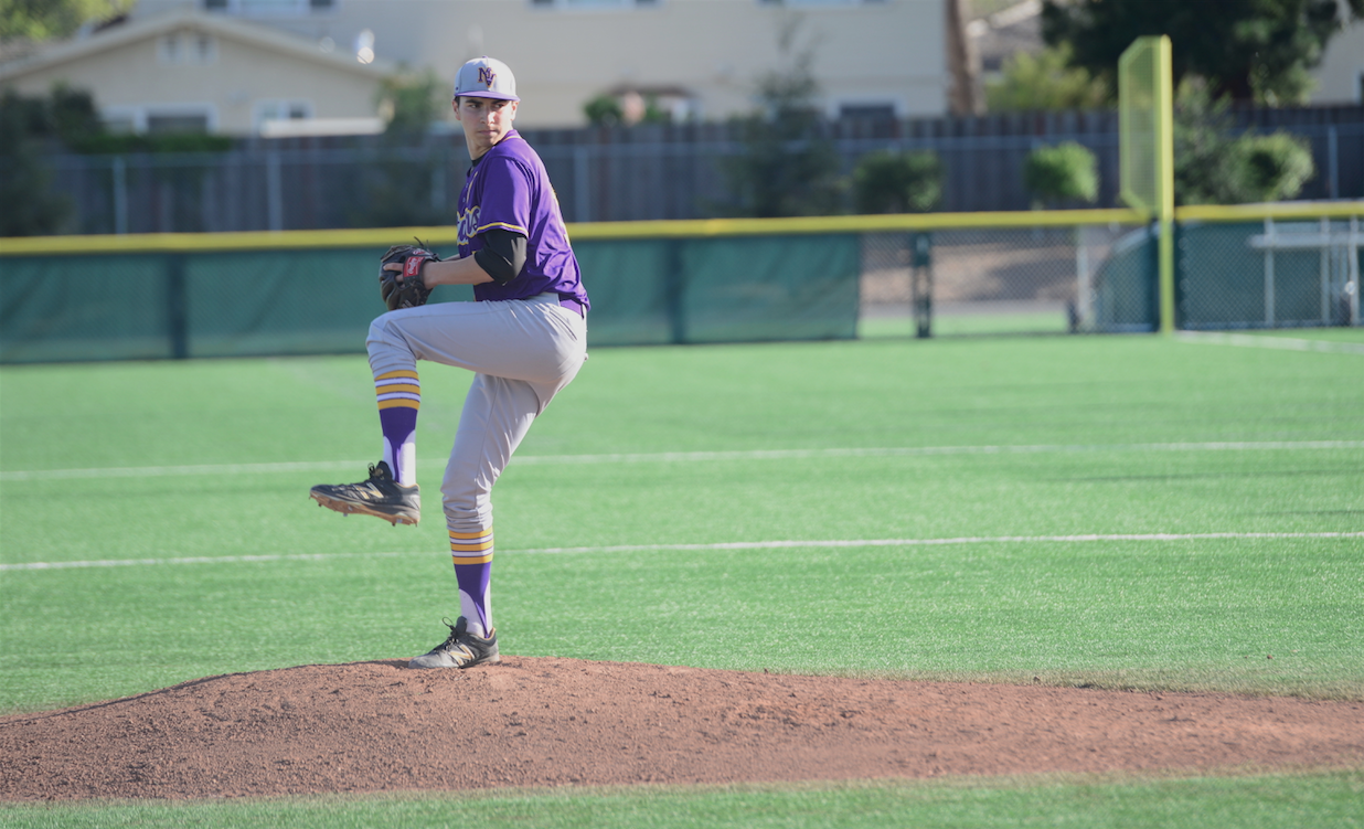 Junior Jared Slater winds up before a pitch against Independence HS on March 29. He threw a complete game no-hitter to propel the Matadors to a victory. Photo by Pranav Iyer.