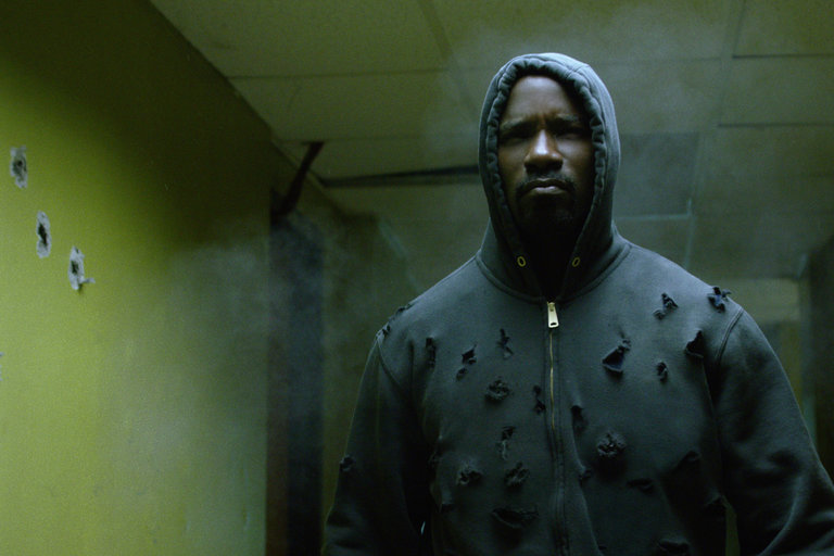 Mike Colter stars in the new Netflix superhero series 'Luke Cage'. Courtesy of Netflix