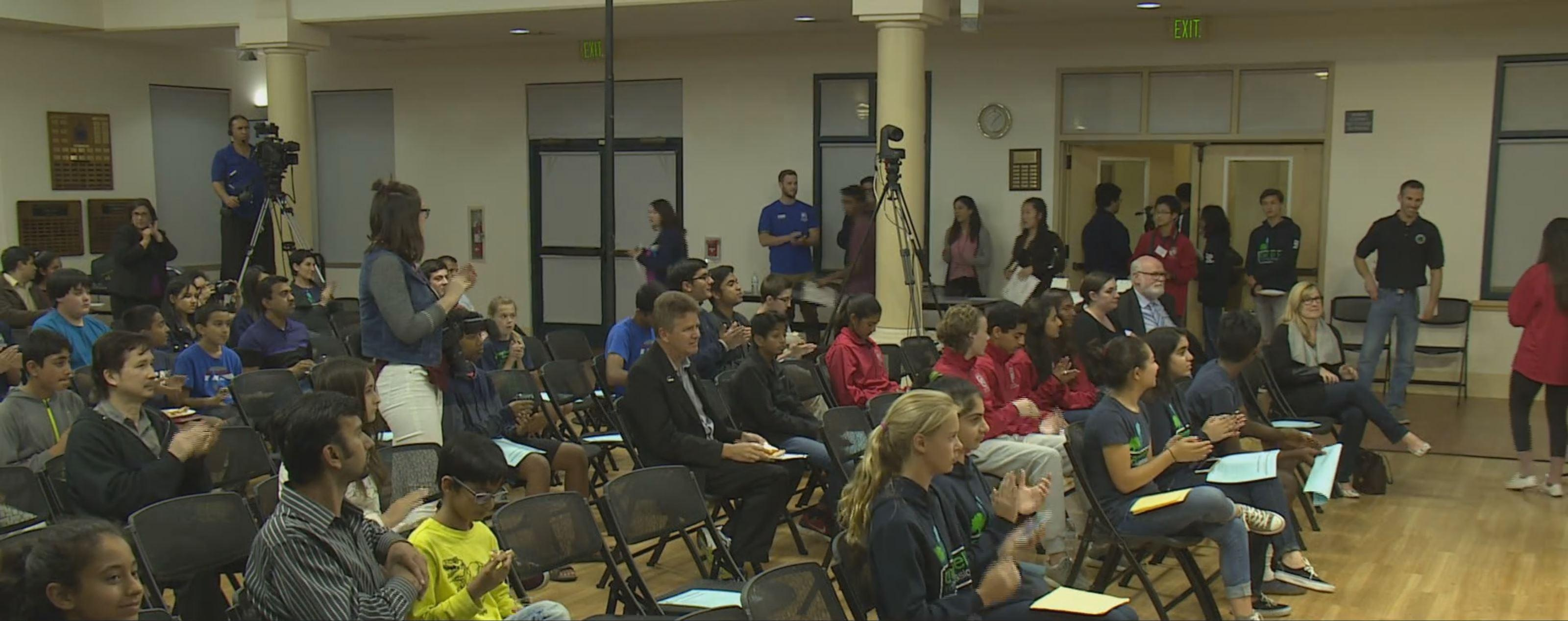 Pizza and Politics is hosted by the Cupertino Teen Commission every other year at the Quinlan Community Center. The event attempts to offer local high school students the chance to meet local politicians and ask them questions.
