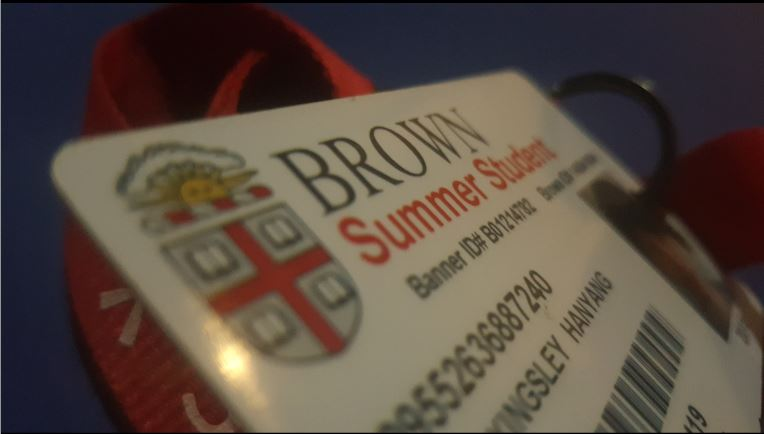 Cards such as these are used as identification cards by students at summer institutes in order to receive food and get into the dormitories. Photo taken by Kingsley Wang