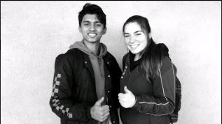 Junior Ann Marie Manley and Junior Aaron Lopes. Photo taken by Kingsley Wang