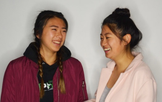 Seniors Catherine Yi and Vivian Zhang have been friends since second grade. They met in Faria Elementary School. Photos by Jessica Xing