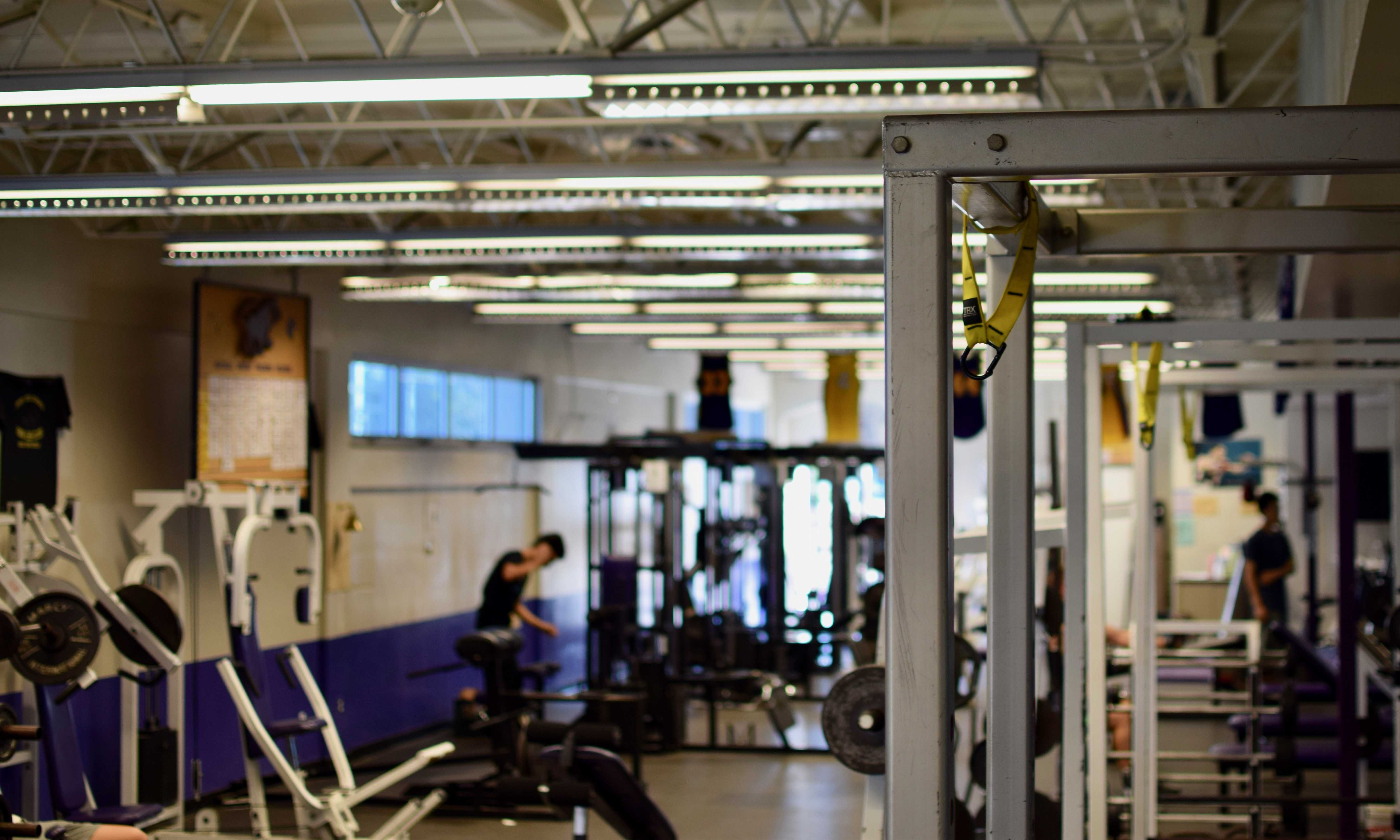 The MVHS weight room is largely empty after school. Students, regardless of their participation on MVHS athletic teams, can use the weight room after school. Photo by Om Khandekar.