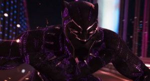 T'Challa/Black Panther in an action sequence. Photo used without permission by The Daily Superhero.