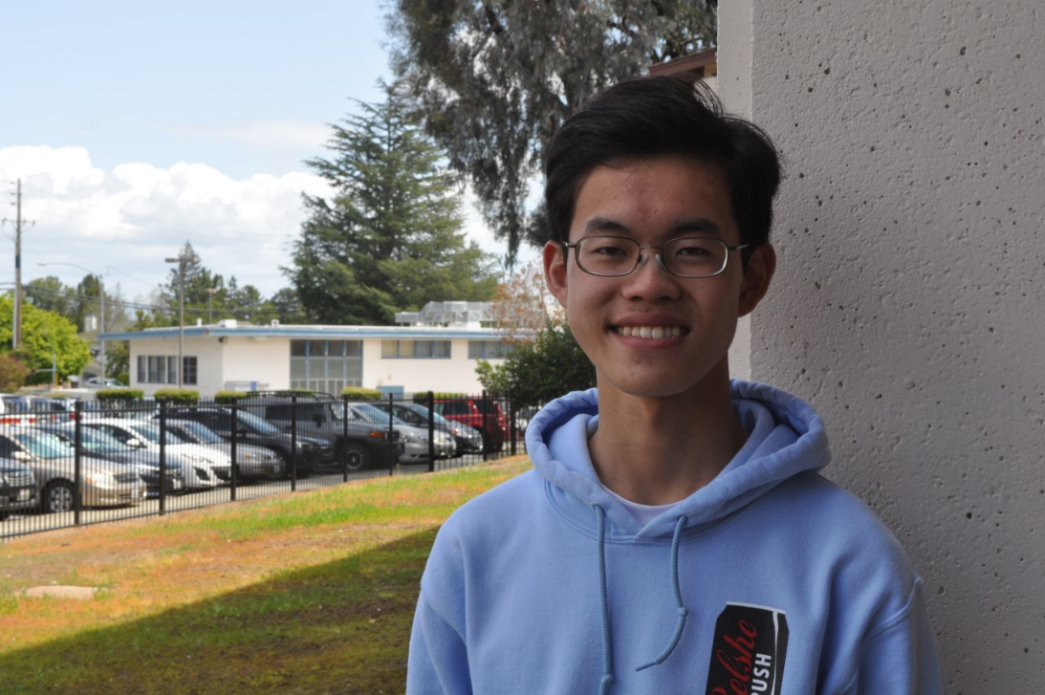 As co-president of MVHS MUN, Wang hopes to expand the club's member base and foster a dedication to the club. Photo by Maggie McCormick.
